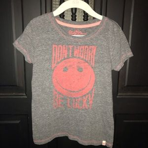 "Lucky Brand t-shirt ""Don't worry, be lucky"""